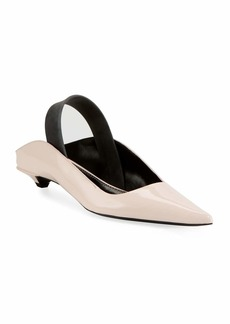 Proenza Schouler Leather Mules with Latex Strap