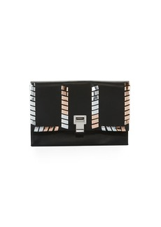 Proenza Schouler Leather Whipstitch Small Lunch Clutch Bag