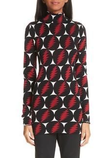 Proenza Schouler Lightning Print Silk Sweater