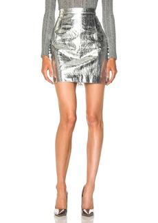 Proenza Schouler Lightweight Metallic Leather Mini Skirt
