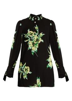 Proenza Schouler Lily-print silk-georgette blouse