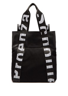 Proenza Schouler Logo convertible leather and canvas backpack