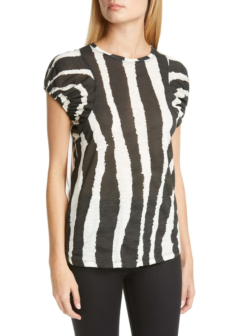 Proenza Schouler Logo Graphic Puff Sleeve Top