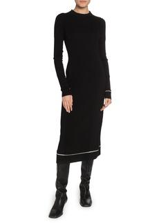 Proenza Schouler Long-Sleeve Crewneck Knit Dress