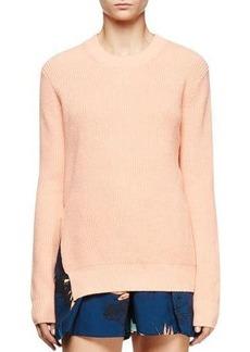 Proenza Schouler Long-Sleeve Cross-Back Ribbed Sweater