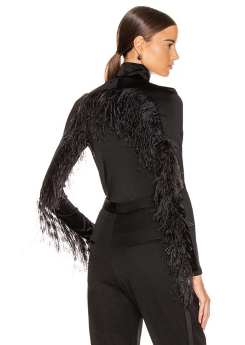 Proenza Schouler Long Sleeve Feathers Top