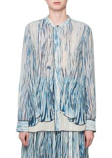 Proenza Schouler Long-Sleeve Printed Silk Blouse