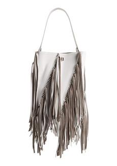 Proenza Schouler Medium Hex Fringe Calfskin Leather Bucket Bag