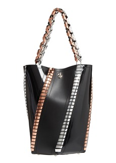 Proenza Schouler Medium Hex Metallic Whipstitch Leather Bucket Bag