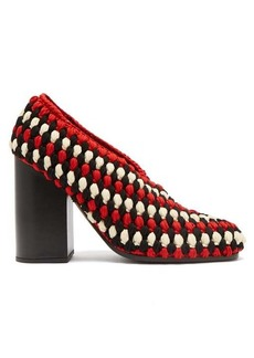 Proenza Schouler Meg macramé block heels