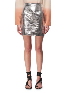 Proenza Schouler Metallic Leather Mini Skirt
