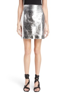 Proenza Schouler Metallic Leather Miniskirt
