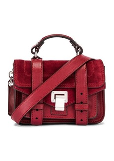 Proenza Schouler Micro PS1 Leather & Suede Bag