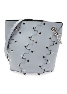 Proenza Schouler Mini Hex Studded Leather Bucket Bag