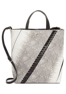 Proenza Schouler Mini Hex Whipstitch Lizard & Leather Bucket Bag