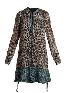 Proenza Schouler Mini leopard-print silk-crepe dress