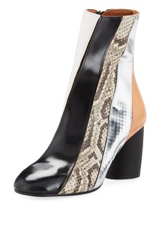 Proenza Schouler Mixed-Media Patchwork Boot