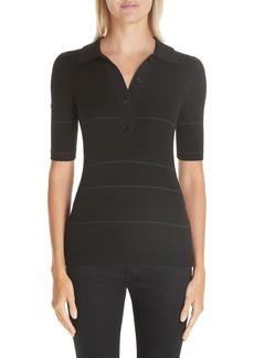 Proenza Schouler Mixed Rib Silk & Cashmere Blend Sweater