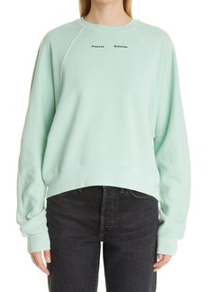 Proenza Schouler Modified Raglan Sleeve Sweatshirt