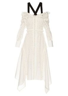 Proenza Schouler Off-the-shoulder broderie-anglaise dress