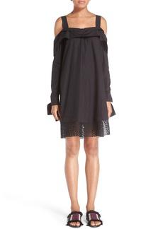Proenza Schouler Off the Shoulder Cotton Dress
