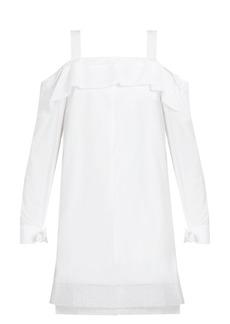 Proenza Schouler Off-the-shoulder cotton-poplin dress