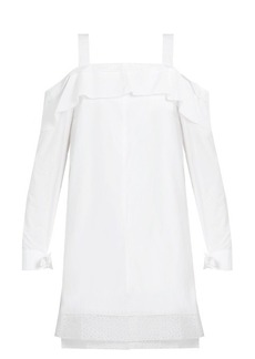 Proenza Schouler Off-the-shoulder cotton-poplin dress