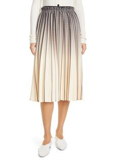 Proenza Schouler White Label Ombré Plaid Pleated Skirt