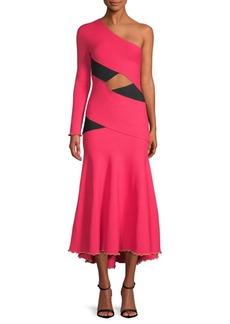Proenza Schouler One-Shoulder Bandage Fit-&-Flare Dress