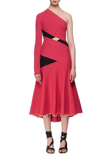 Proenza Schouler One-Shoulder Exposed Bandage Midi Dress