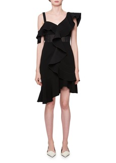 Proenza Schouler One-Shoulder Ruffle Dress