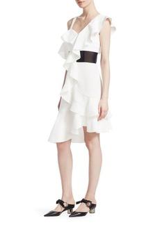 One-Shoulder Ruffle Dress
