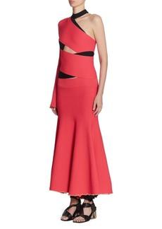 Proenza Schouler One-Sleeve Bandage Gown