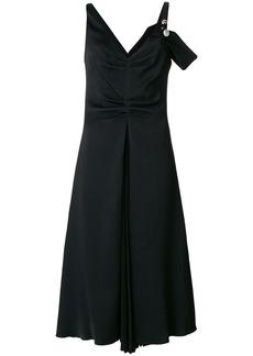 Proenza Schouler One Sleeve Open Shoulder Dress - Black