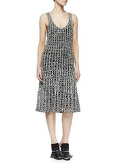 Proenza Schouler Open Crochet A-Line Dress
