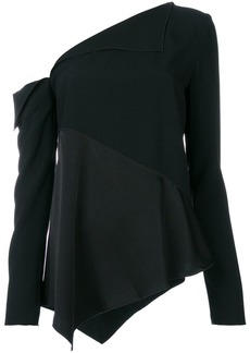 Proenza Schouler open shoulder blouse - Black