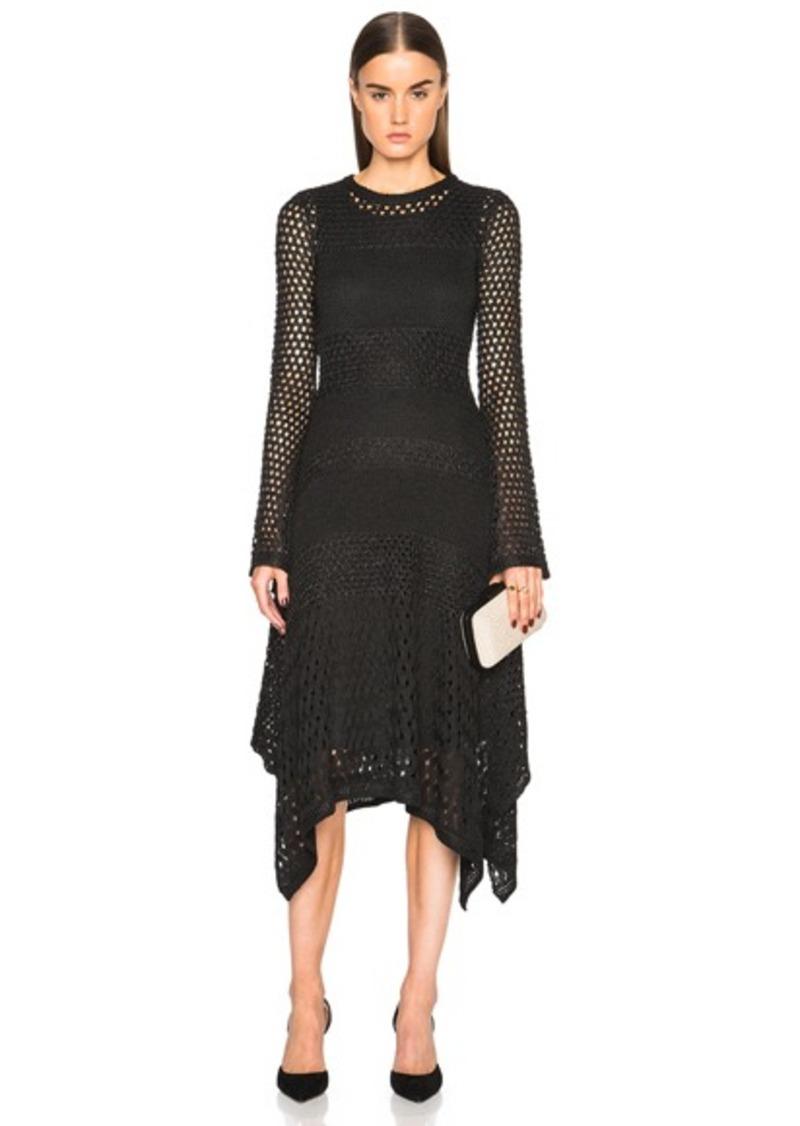 Proenza Schouler Open Stitch Handkerchief Hem Dress