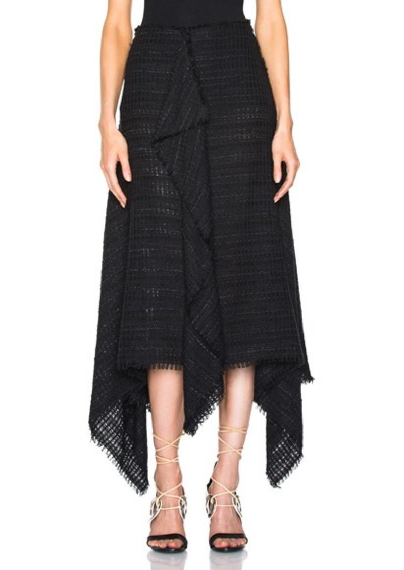 Proenza Schouler Open Weave Tweed Skirt