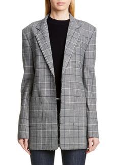 Proenza Schouler Oversize Houndstooth Stretch Wool Blazer