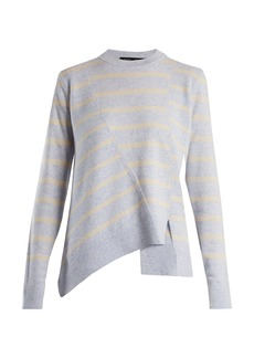 Proenza Schouler Panelled crew-neck striped wool-blend sweater