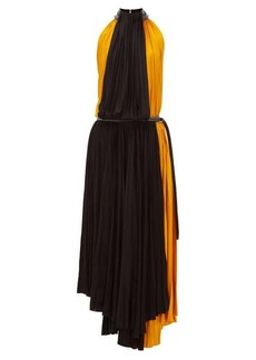 Proenza Schouler Panelled pleated-jersey midi dress