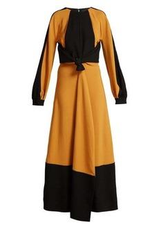 Proenza Schouler Panelled tie-waist crepe dress