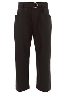 Proenza Schouler Paperbag high-rise wool-twill trousers
