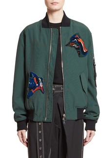 Proenza Schouler Patch Embellished Bomber Jacket