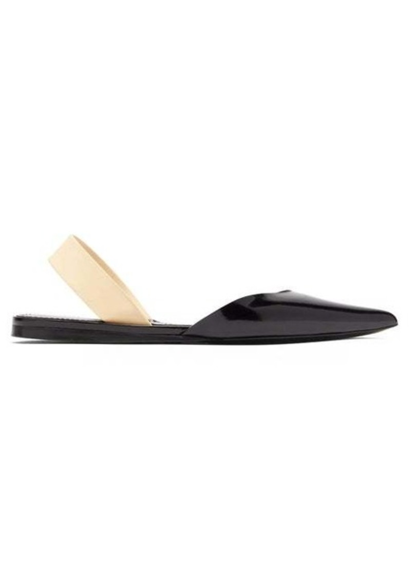 Proenza Schouler Patent-leather slingback flats