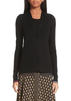 Proenza Schouler Pattern Cuff Silk & Cashmere Blend Cardigan