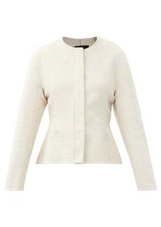 Proenza Schouler Peplum-hem brushed wool-blend jacket