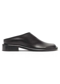 Proenza Schouler Pipe round-toe leather backless loafers
