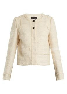Proenza Schouler Piped-edge cotton-blend bouclé tweed jacket