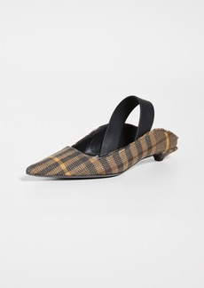Proenza Schouler Plaid Slingback Pumps